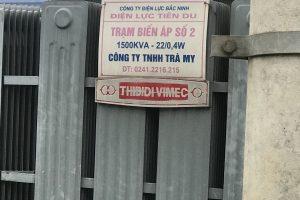 Thí nghiệm định kỳ trạm biến áp 1500kVA-22/0,4kV Công ty TNHH Trà My